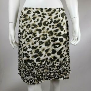 RELAX by TOMMY BAHAMA Linen Animal Print Skirt 6